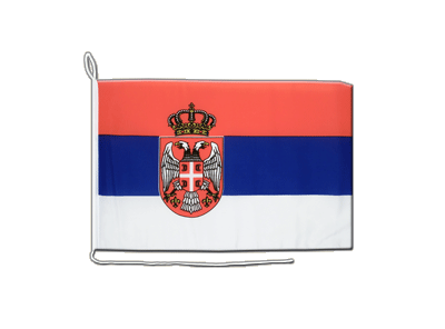 Boat Flag Serbia with crest - 12x16""