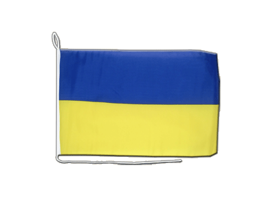 Boat Flag Ukraine - 12x16""