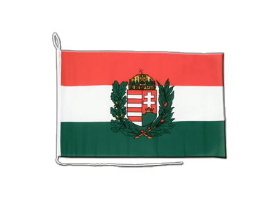 Boat Flag Hungary with crest - 12x16""