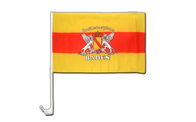 Car Flag Baden with crest - 12x16""