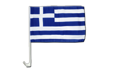 Greece Car Flag