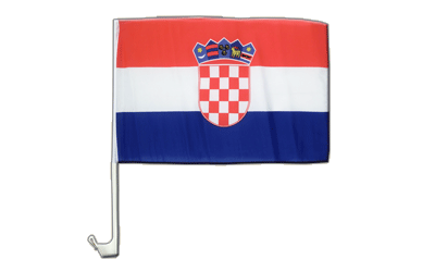 Car Flag Croatia - 12x16""