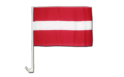 Car Flag Latvia - 12x16""