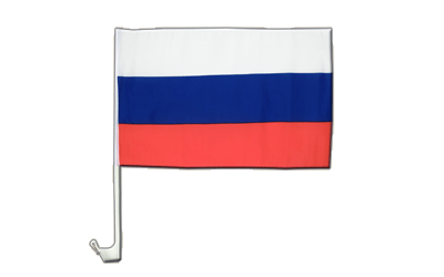 Car Flag Russia - 12x16""