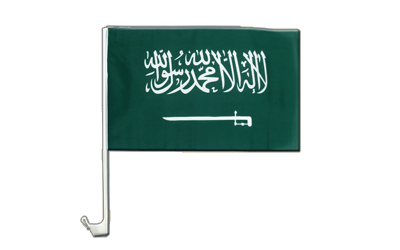Car Flag Saudi Arabia - 12x16""