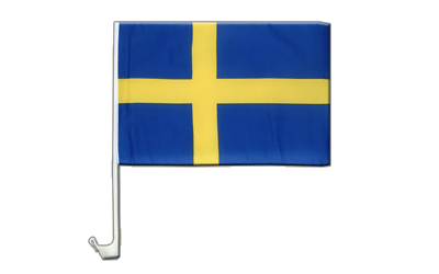Car Flag Sweden - 12x16""