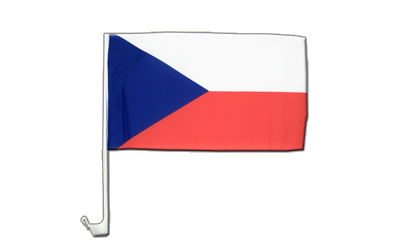 Car Flag Czech Republic - 12x16""