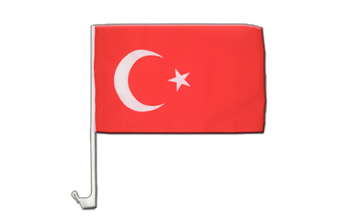 Car Flag Turkey - 12x16""