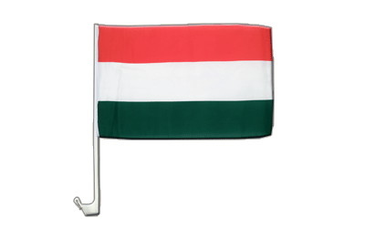 Car Flag Hungary - 12x16""