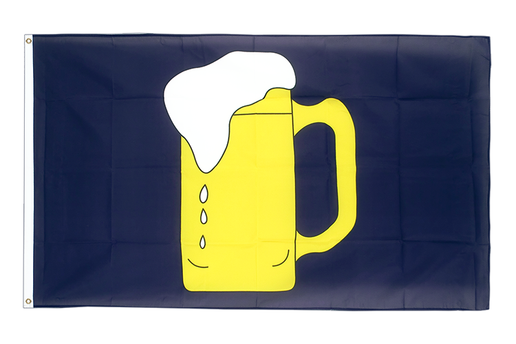 Large Beer Flag 5x8 ft (big and giant)