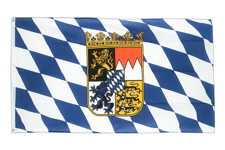 Large Flag Bavaria with crest - 5x8 ft (big and giant)