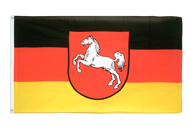 Large Flag Lower Saxony - 5x8 ft (big and giant)
