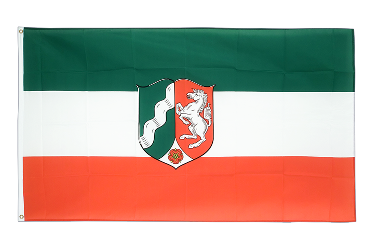 Large Flag North Rhine-Westphalia - 5x8 ft (big and giant)