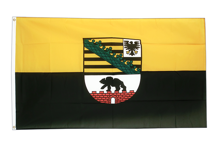 Large Flag Saxony-Anhalt - 5x8 ft (big and giant)
