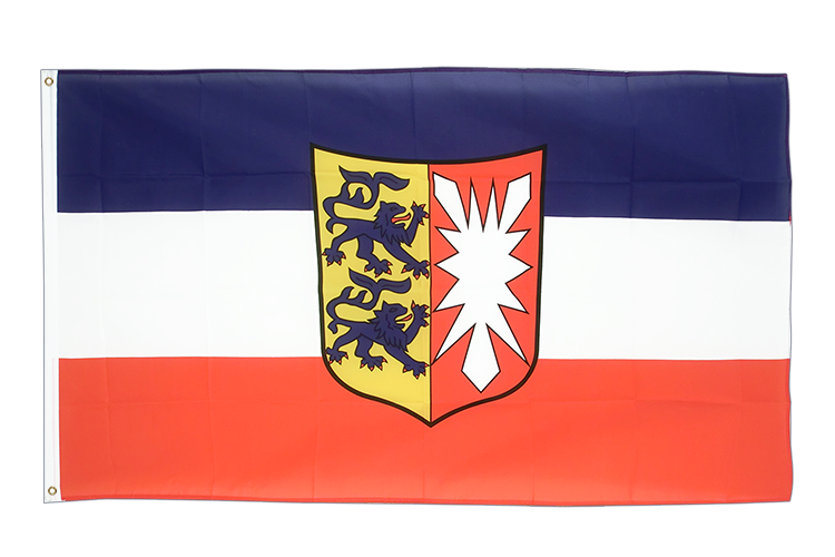 Large Flag Schleswig-Holstein - 5x8 ft (big and giant)