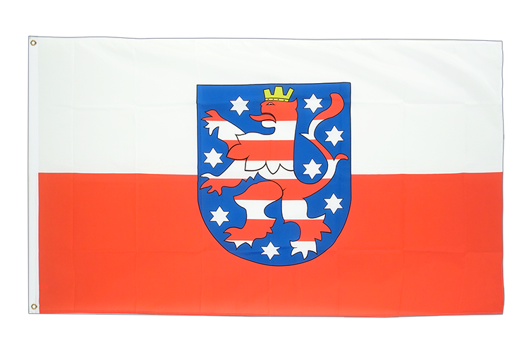 Grand drapeau Thuringe 150x250cm