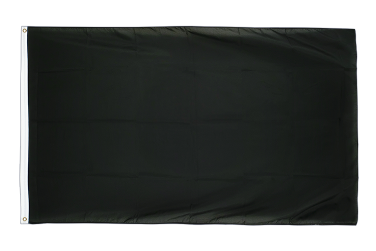 Large Flag black - 5x8 ft (big and giant)