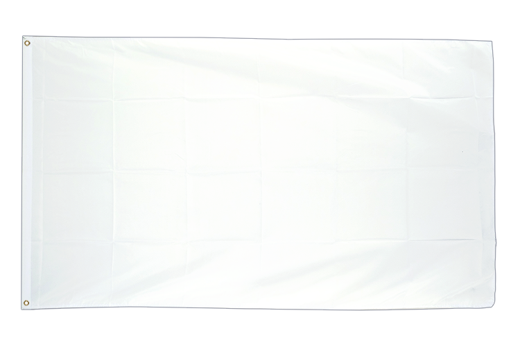 Large Flag white - 5x8 ft (big and giant)