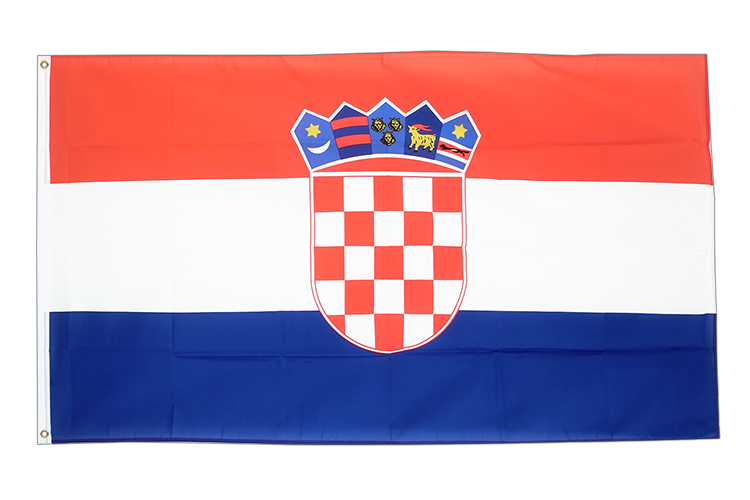 Large Flag Croatia - 5x8 ft