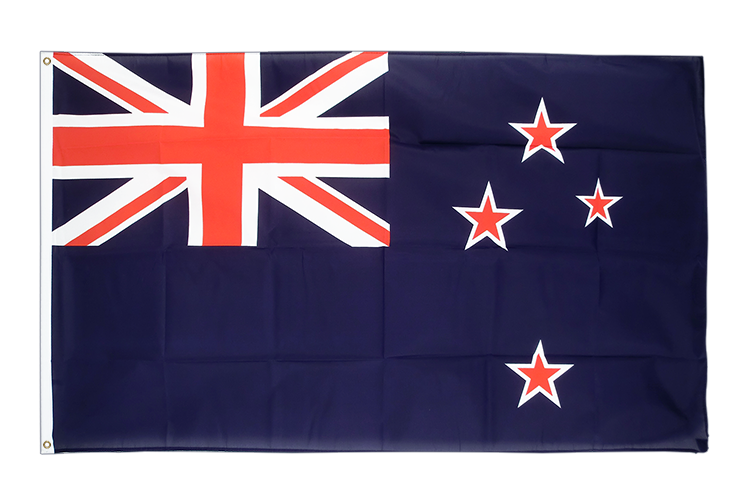 Large Flag New Zealand - 5x8 ft (big and giant)