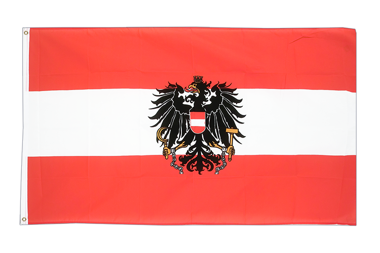 Large Flag Austria eagle - 5x8 ft (big and giant)