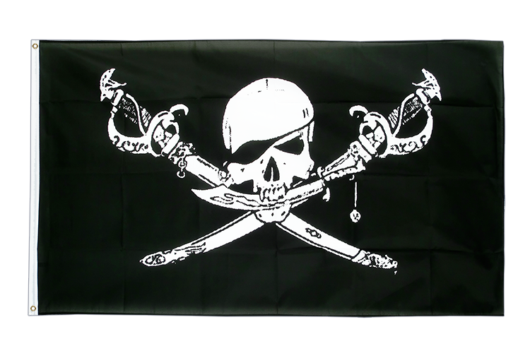 Large Flag Pirate with sabre - 5x8 ft (big and giant)
