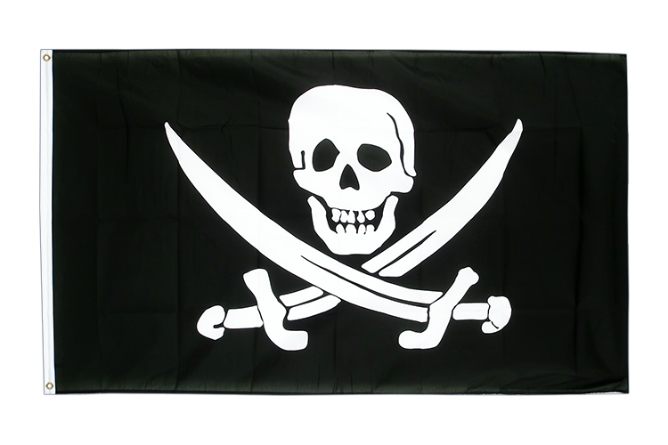 Large Flag Pirate with two swords - 5x8 ft (big and giant)