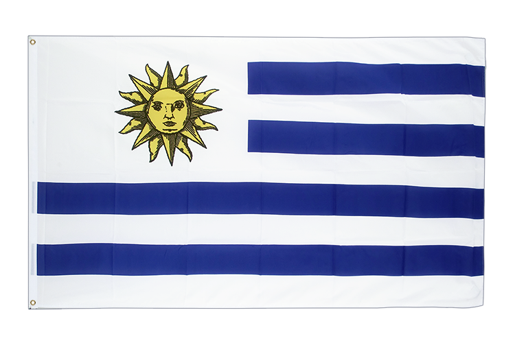 Large Flag Uruguay - 5x8 ft (big and giant)