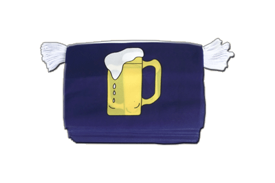 Flag Bunting Beer - 6x9""