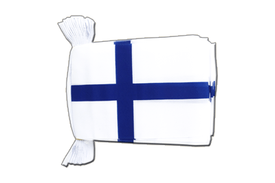 Flag Bunting Finland - 6x9""