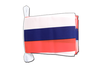 Flag Bunting Russia - 6x9""