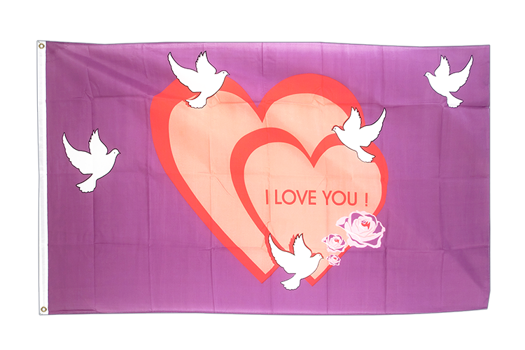 Drapeau I love You 90 x 150 cm