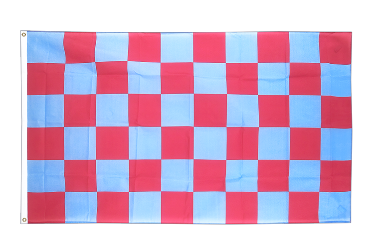 Checkered Blue-Red - 3x5 ft Flag