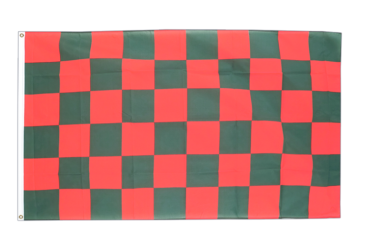 Checkered Red-Green - 3x5 ft Flag