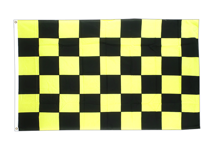 Checkered Black-Yellow - 3x5 ft Flag