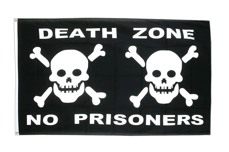 Pirat Death Zone - Flagge 90 x 150 cm