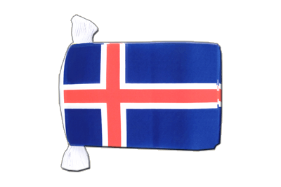 "Iceland Flag Bunting 6x9"", 9 m"