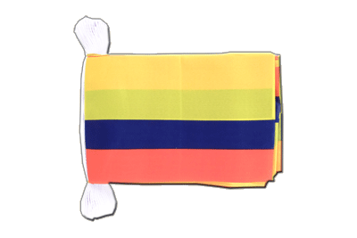 Flag Bunting Colombia - 6x9""