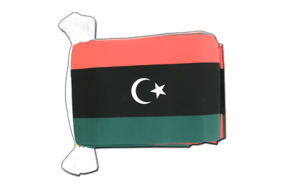 Flag Bunting Kingdom of Libya 1951-1969 Opposition Flag Anti-Gaddafi Forces - 6x9""