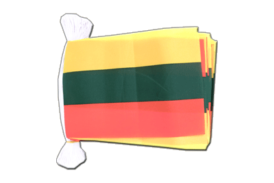 Flag Bunting Lithuania - 6x9""