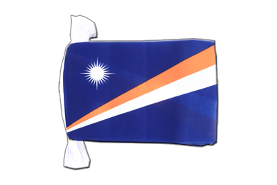 Flag Bunting Marshall Islands - 6x9""