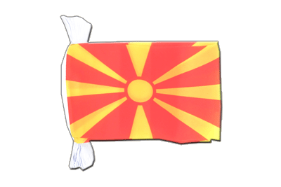 "Macedonia Flag Bunting 6x9"", 9 m"