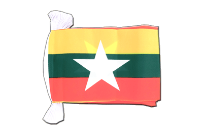 Flag Bunting Myanmar new - 6x9""