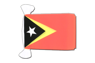 Flag Bunting East Timor - 6x9""
