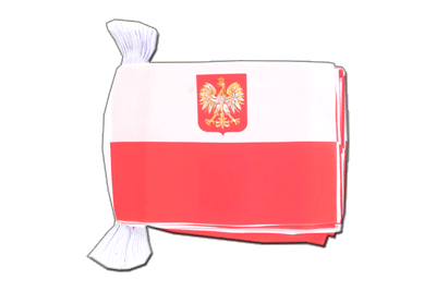 "Poland with eagle Flag Bunting 6x9"", 9 m"