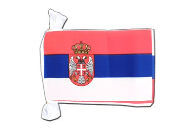 Flag Bunting Serbia with crest - 6x9""