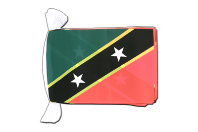 Flag Bunting Saint Kitts and Nevis - 6x9""