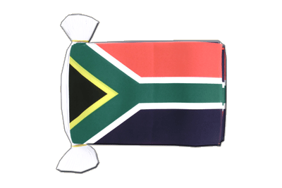 "South Africa Flag Bunting 6x9"", 9 m"