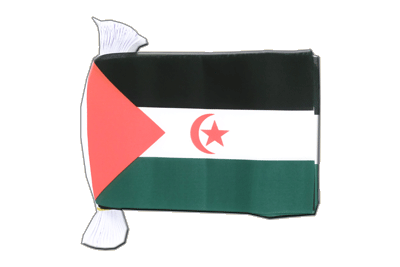 Guirlande fanion avec drapeau Sahara occidental 15x22 cm