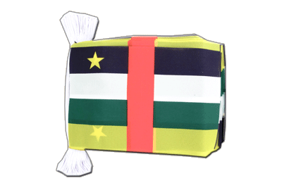 "Central African Republic Flag Bunting 6x9"", 9 m"